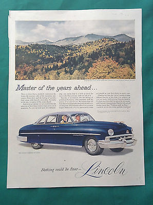 1951 Lot Automobile Magazine Ads ~ Lincoln