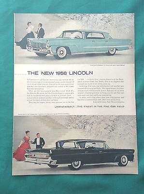 1958 Lot Vintage Automobile Magazine Ads ~ Lincoln Landau