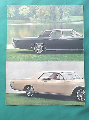 1966 Magazine Vintage Automobile Double Page Ad ~ Lincoln Continental