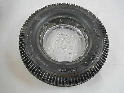 Vintage Mohawk Cord Rubber Tire Advertising  Ashtray Akron Ohio Mohawk  Company