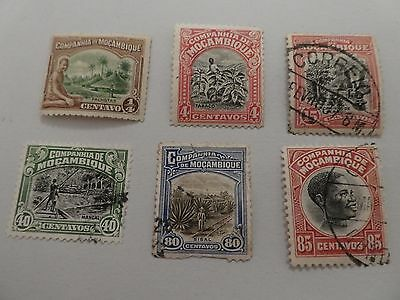 Mozambique early collection of 6 stamps to 85c