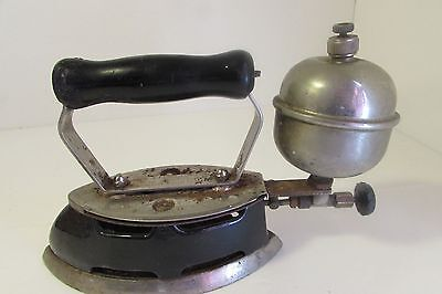 Vintage Coleman Iron Instant Lite Model 4-A with Wood Handle
