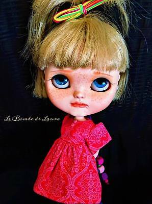 REDUCED! Gorgeous Customised Jecci Five Doll (like Blythe) by Laura del Greco