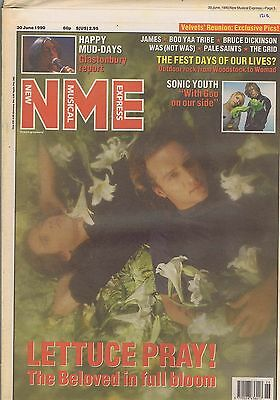 BELOVED / HAPPY MONDAYS / SONIC YOUTH / BRUCE DICKINSON NME 30 Jun 1990