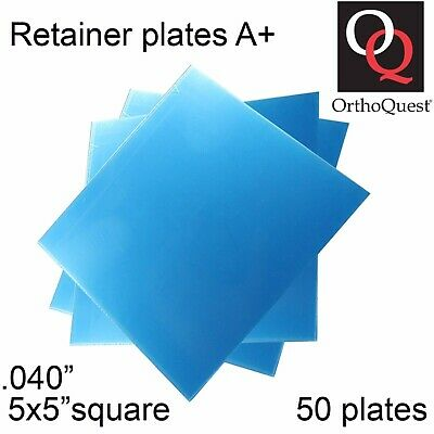 50 Dental Ortho Quest Plastic A+ Retainer Vacuum Form Plates Splint .040inch