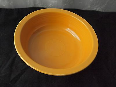"Vintage Fiesta Ware Yellow 9.5"" Nappy Serving Bowl Homer Laughlin"