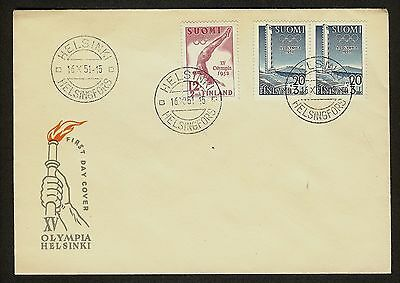 FINLAND 15 Olympic Games 1952 FDC First Day Cover