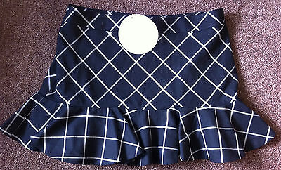 M&S Indigo Collection black check ruffle skirt - Brand New - age 11 to 12 years