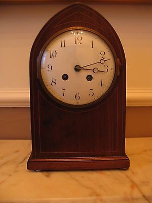 lovely old french wooden mantle clock