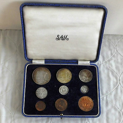 South Africa 1960 9 Coin Proof Year Set  - Sam Box