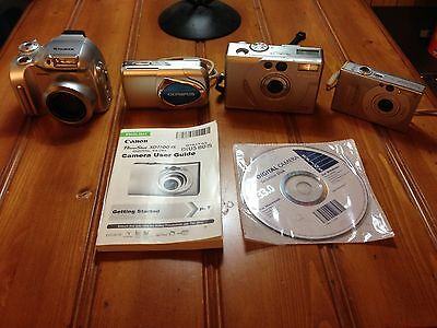 Fuji, Olympus, Canon Digital Camera Lot