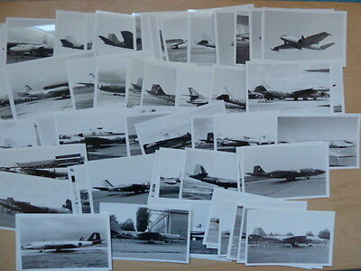 RAF, 88 black & white photographs of Canberra aircraft