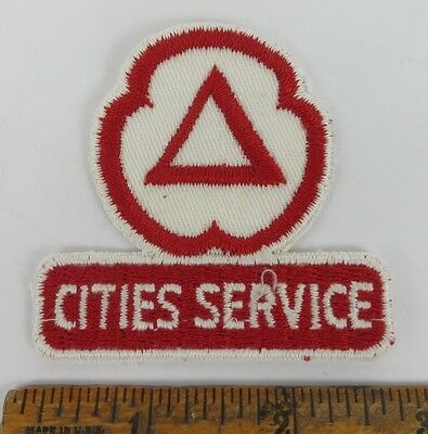 CITIES SERVICE 1950s Patch NOS New Old Stock GAS OIL SERVICE STATION Petroliana