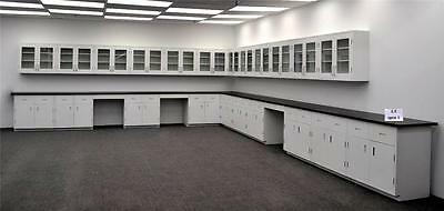 36' Wall & 39' Base Laboratory Cabinets & Furniture with Counter Tops - LS OPEN1