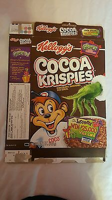 "Kellogg's ""Cocoa Krispies"" The Grinch Stole Breakfast Cereal - Empty Cereal Box"