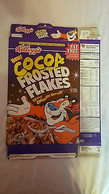 "Kellogg's NEW ""Cocoa Frosted Flakes"" - Empty Cereal Box - 1998"