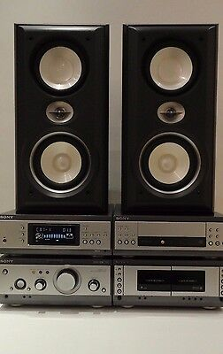Sony MCH-S3 Hifi Component System Dolby Digital DTS 3 x CD Tape Tuner Speakers