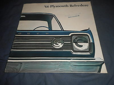 1966 Plymouth GTX Satellite and Belvedere Color Sales Brochure Catalog Prospekt