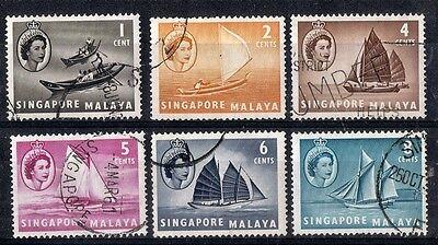 Singapore.  1955.  Definitive Issue.   SG38-43.  Used.