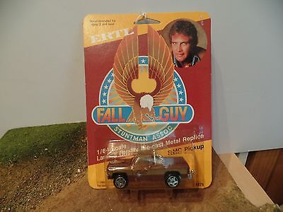 ertl toys no 1875 , a 1/64 scale FALL GUY   G.M.C. pick up truck , mint on card