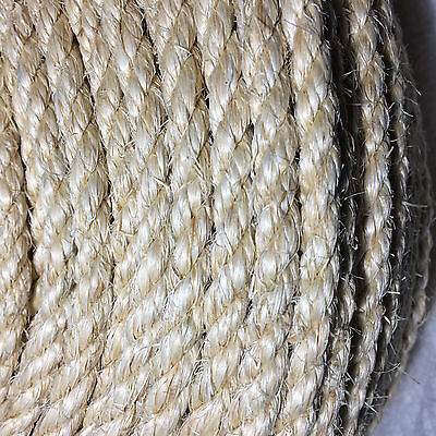 SISAL ROPE 8mm x 30m 100% Natural Fibre Cat Scratch, Decking, Garden, Arbour
