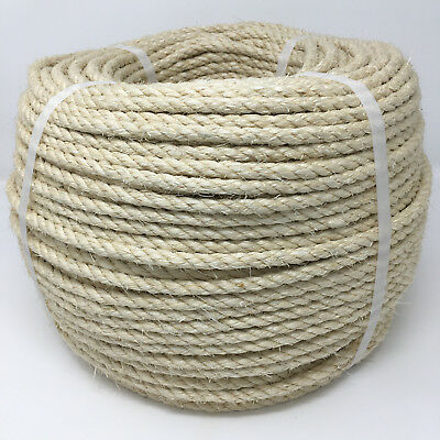 8mm x 75m Sisal Rope 100% Natural Fibre Cat Scratch, Decking, Garden, Arbour