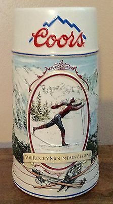 Coors 1991 Rocky Mountain Legend Series Beer Stein SKIER - Numbered edition