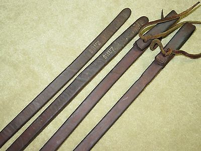 GUC~Awesome SCHUTZ BROS Western WEIGHTED Brown HARNESS LEATHER Work Reins~8.5ft