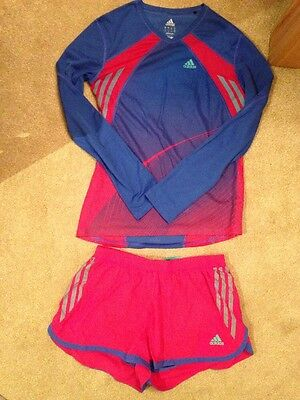 Adidas Running Top With Shorts Size 10