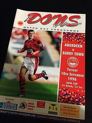 Aberdeen v Barry Town, Uefa Cup 1996