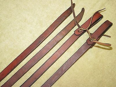 "GUC~Thick, HEAVY & HIGH QUALITY Brown 3/4"" HARNESS LEATHER Western Reins~98"""
