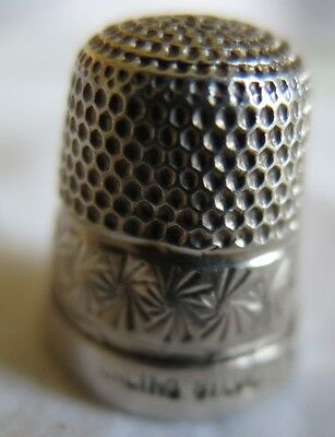 Sterling Silver 925 Thimble size 10 poor condition