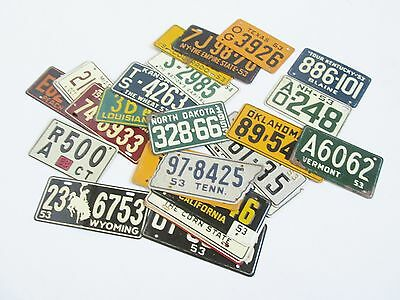 VTG Lot of 30 Wheaties Cereal Promo Bicycle License Plates 1953-54 Set