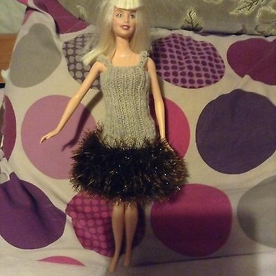 Hand knitted clothes for Barbie/ Sindy