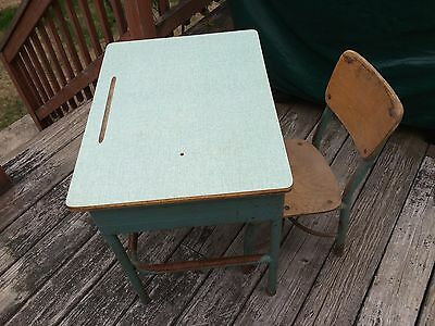 Vintage Elementary Desk With Matching Chair