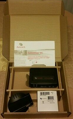 NEW Avocent SwitchView MM2 PC 2 or 4-Port PS/2 Desktop KVM Switch 2SVPUA20