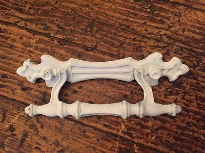"Lot Of 10- French Shabby Chic Fleur De Lis Drawer Pulls White 5"" L X3""center"