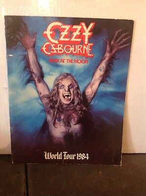 "Ozzy Osbourne  ""bark at the moon world tour 1984"" tour book"