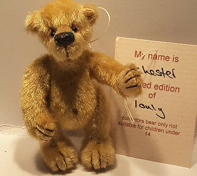 Pipkins Bears 'CHESTER' Limited Edition 1/1 Jane Powell Mohair Fully Jointed