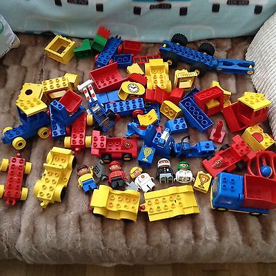 duplo bricks bike ,racing cars , helicopter , lorry