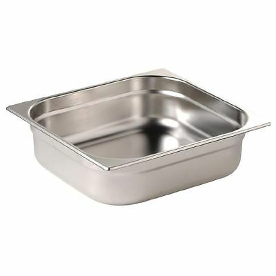 Vogue Stainless Steel 1/2 Gastronorm Pan 65mm Kitchen Container Food Storage