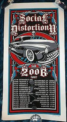 Rare 2006 Social Distortion 1/860 Fall Tour Poster Artist Uncle Pete Mcphee Oop!