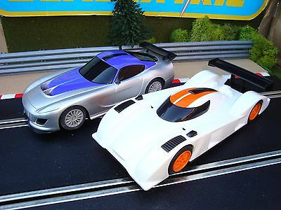 Pair Scalextric Start Cars, Gt And Le Mans Cars, Excellent Complete Condition...