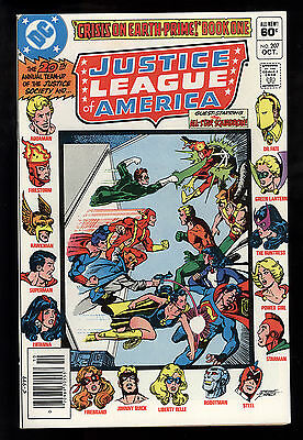 Justice League of America (1960) #207 First Print Crisis on Earth Prime Pt 1 NM