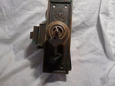 Complete Antique Bronze/brass Door Lock Set From Philadelphia City Hall 1901