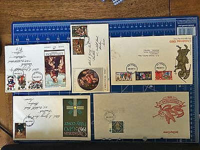 First Day covers Christmas 1967, 1968, 1969, 1976