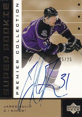 UD Premier Collection 2002/03 Rookie Auto GOLD VERSION Jared Aulin LA Kings