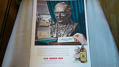Vintage 1940s Old Grand-Dad Bourbon Whiskey Ad