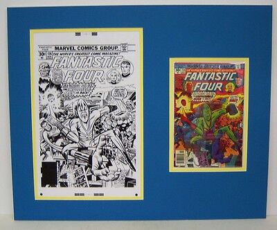 Original Production Art JACK KIRBY Fantastic Four #176, matted with full comic