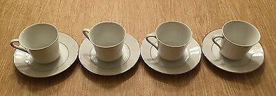 4 - Crown Empire Princess Cup and Saucer - Set of 4